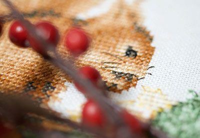 Counted cross stitch kit 4 Seasons set of 4 Autumn PN-0173621
