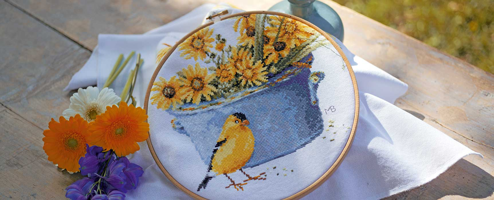 Counted-cross-stitch-kit-Helianthus-sunflowers