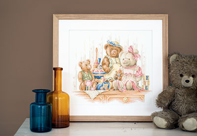 Counted cross stitch kit Bears and toys