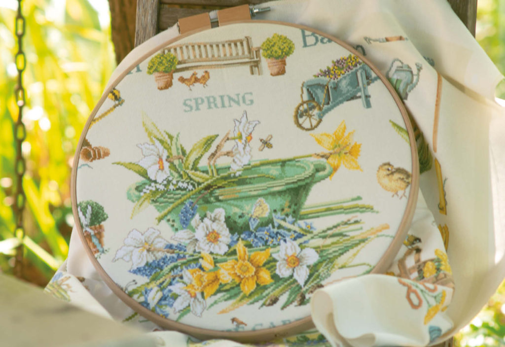 Counted cross stitch kit Spring in the garden  PN-0007964