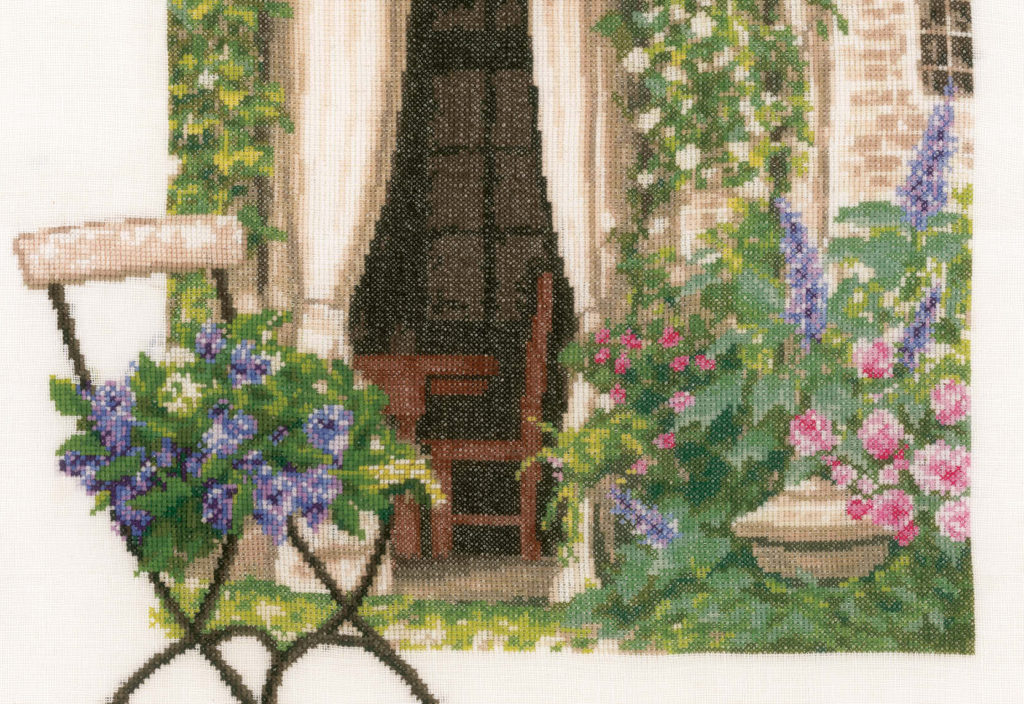 Counted cross stitch kit Our garden view PN-0178458