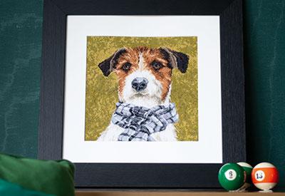 Counted cross stitch kit Dog