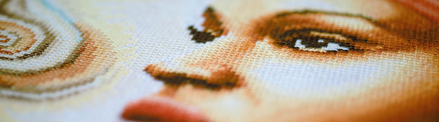 Counted cross stitch kit Mother Africa detail