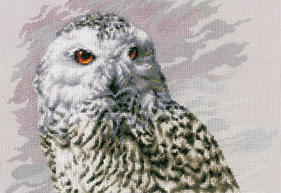 Counted cross stitch kit Snowy Owl